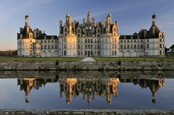 magnifique effet miroir au Château de Chambord