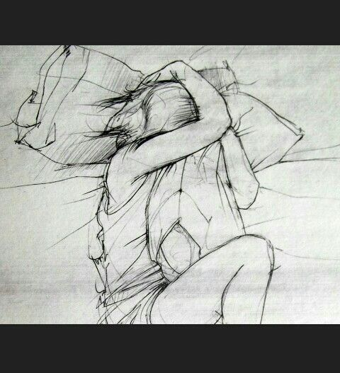 Imagem de drawing, bed, and art