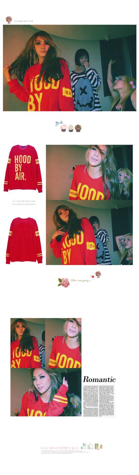 Korean Kpop Band 2NE1 CL HBA Hood By Air Top