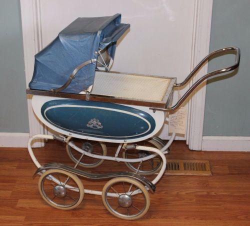 Vintage 1950s Coronet Thayer Convertible Stroller Baby