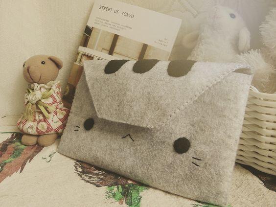 DIY FASHION: How To Sew A Pusheen Cat Wallet Tutorial | Hapy Friends Shoppe