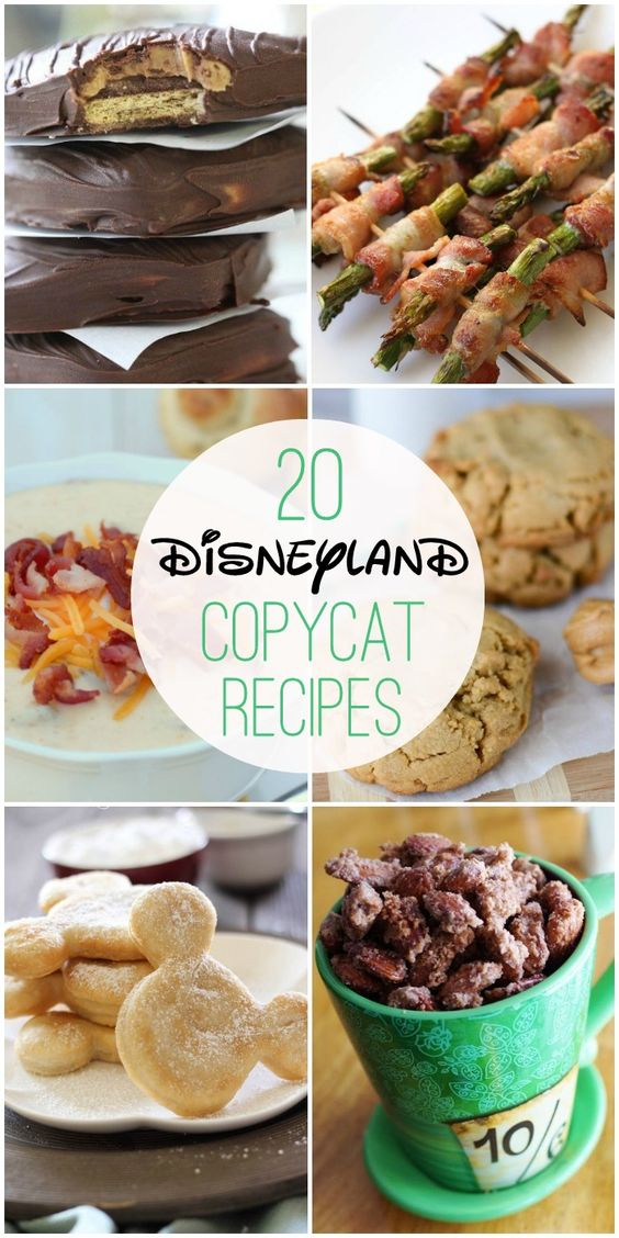 20 Disneyland Copycat Recipes - now you can have all of your Disneyland favorites without having to make the trip!! { lilluna.com }