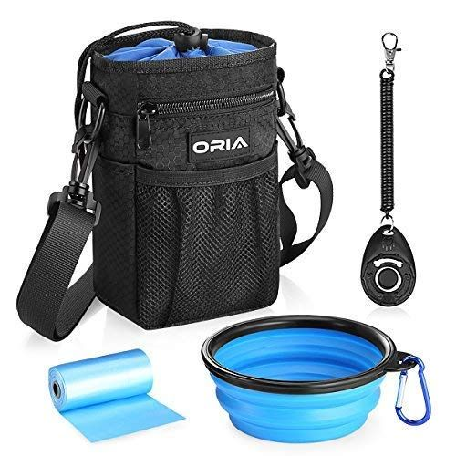 Oria Dog Treat Bag Dog Training Pouch Pet Training Waist Bag