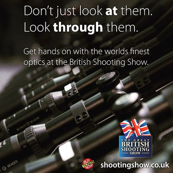 Only the worlds finest optic manufacturers worldwide will be exhibiting at The Great British Shooting Show 2016. Buy your tickets now! #britishshootingshow #Optic #Manufacturers #Shooting #Hunting #Stalking #Sight #Schmidtandbender #CarlZeiss #BeringOptics #Vortex #Minox #Sightron #Swarovski #Kahles #Scopes #buytickets #thingstodo