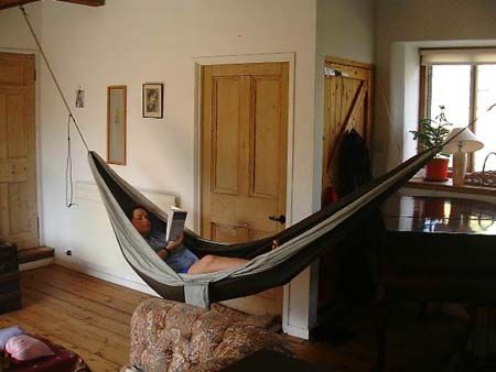 Front room hammock hammock living pinterest front for Living room hammock