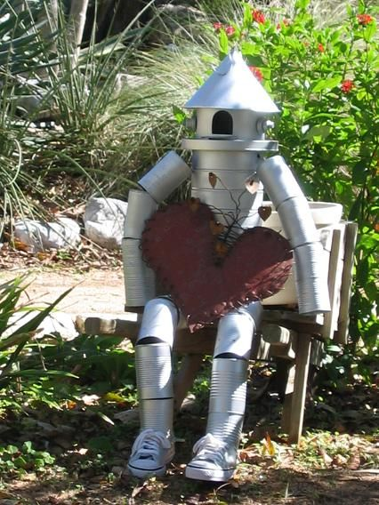 The tin man has found a heart cute craft idea for the for Tin can tin man craft