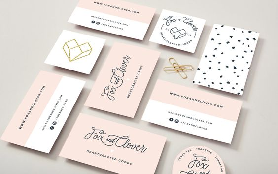 trendy feminine business card design