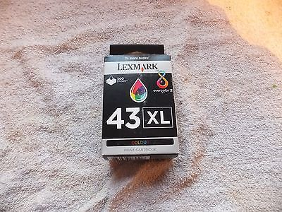 #Genuine lexmark 43xl colour ink #print cartridge brand new factory #sealed in bo,  View more on the LINK: http://www.zeppy.io/product/gb/2/152152718801/