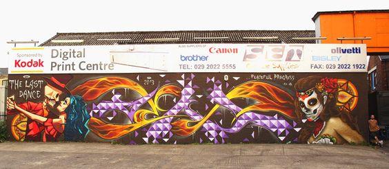 dia de los muertos graffiti art - Google Search