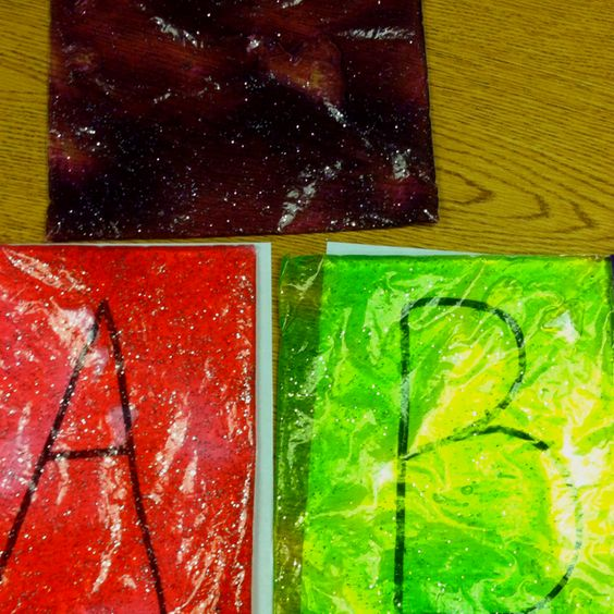 I made some gel bags then made alphabet mats so students can trace letters.