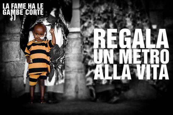 the campaign   La fame ha le gambe corte