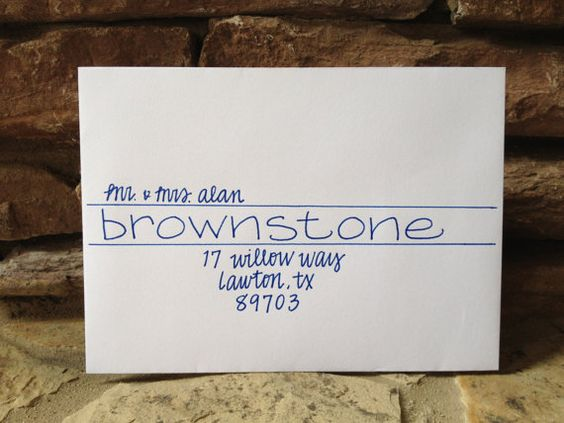 Wedding Invitation Addressing - Handwritten Envelopes - Brownstone ...