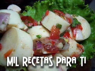 Ceviche de Palmitos ó Corazones de Palma