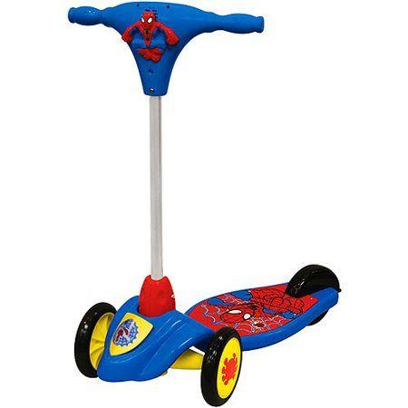 Spiderman Activity Scooter Blue Spiderman Kid Kick Kids Toys