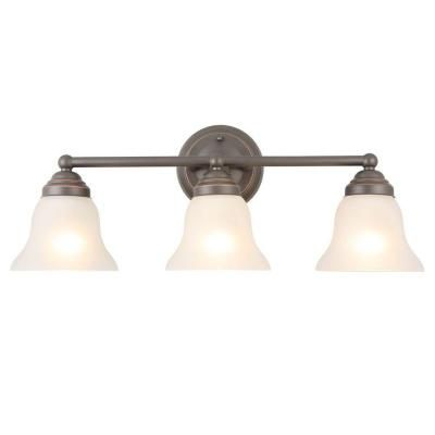 Hampton Bay Vanity Lights Bronze : Hampton Bay, 3-Light Oil Rubbed Bronze Vanity, EGM1393A-4/ORB at The Home Depot - Tablet ...