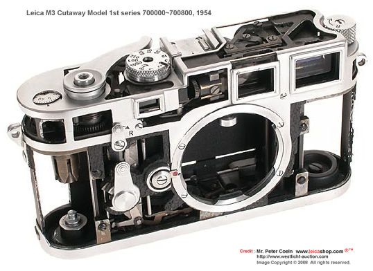 Leica M3 DS Cutaway display Model, 1954