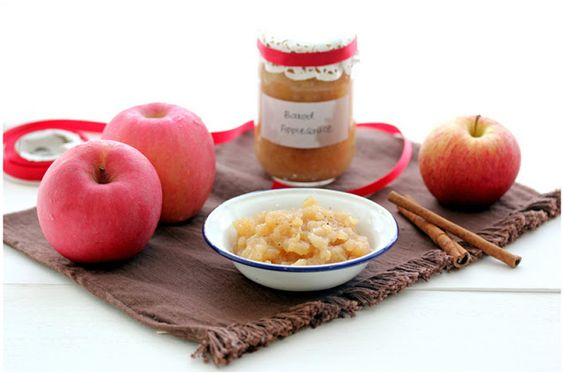 Homemade baked applesauce. Apples from the orchard, brown sugar, cinnamon, pinch of sea salt! Use the applesauce in muffins, cakes, jams, atop your oatmeal!