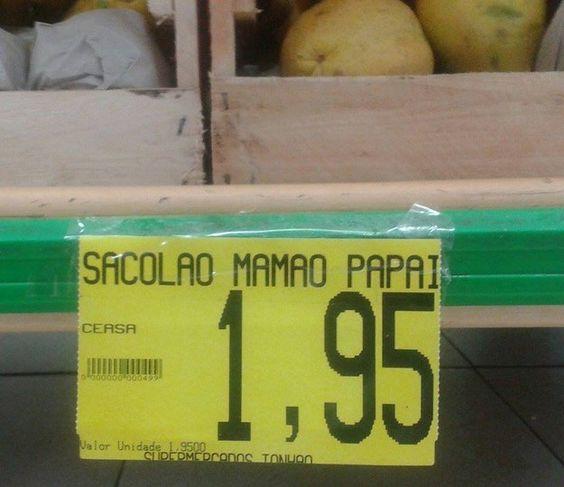 Quando este mamão ganhou um nenê. | 20 coisas totalmente inexplicáveis que aconteceram nos supermercados do Brasil