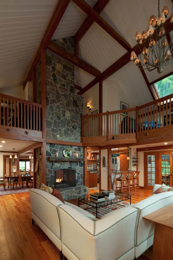 Gathering House Barn Home Yankee Barn Homes Master Bedroom Upstairs With Fireplace For