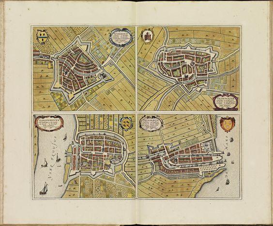 WOERDEN, OUDEWATER, SCHOONHOVEN, DELFSHAVEN. Atlas De Wit.
