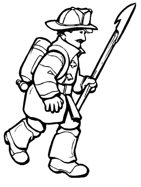 coloring pages firefighter - Google Search