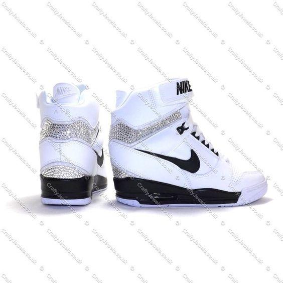ec214b84c946 Shoes Nike swag girl fashion pretty style nike air revolution sky hi  swarovski running nike ...