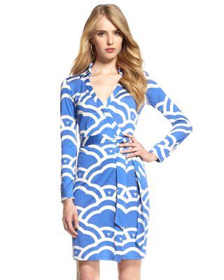 Diane von Furstenberg  New Jeanne Cloud-Print Wrap Dress. I love everything DVF... so classy.