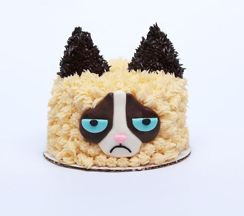 Grumpy Cat Chocolate Cake!