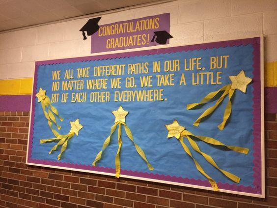 Graduation bulletin board Look