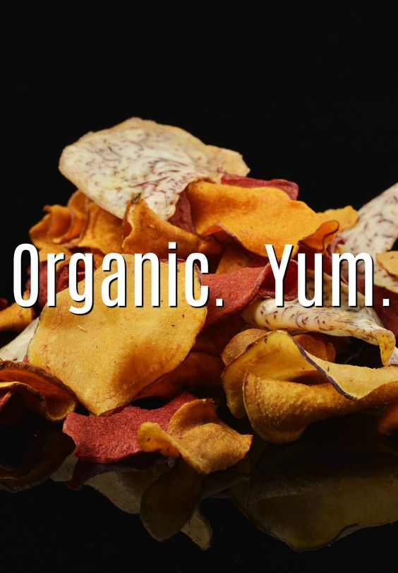 Best natural and organic veggie chips Pinterest pin