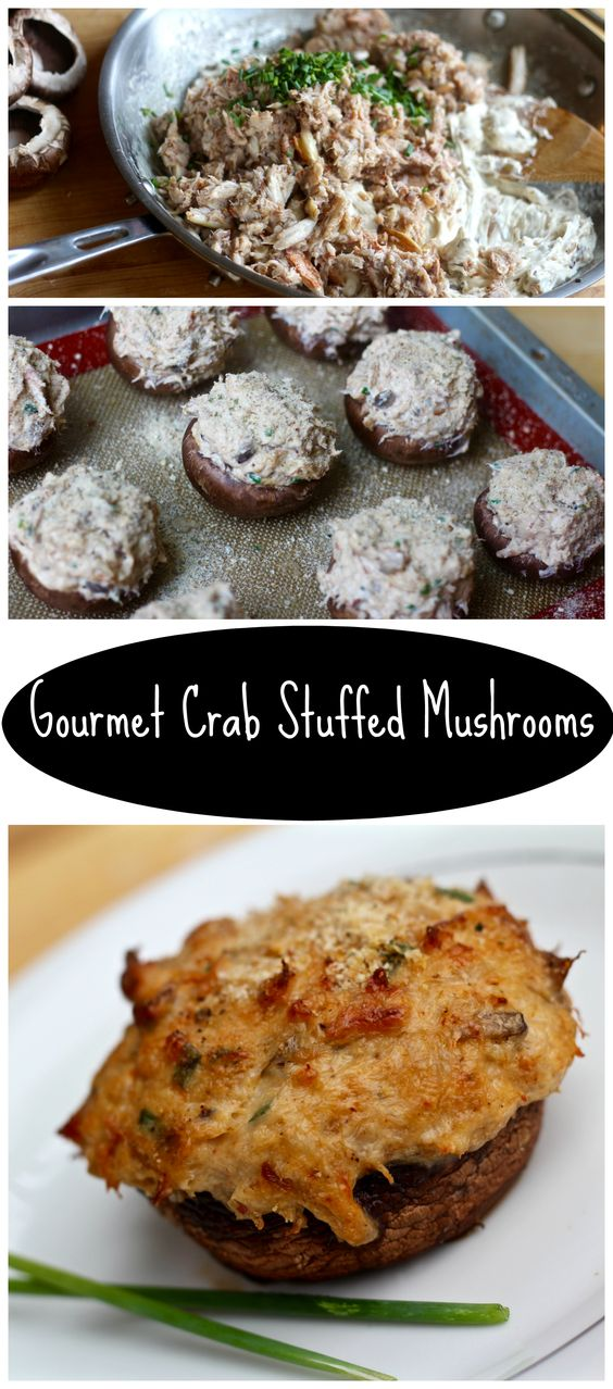 crab stuffed mushrooms, perfect for an easter appetizer!