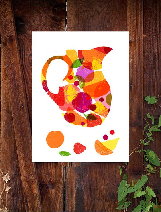 Summer Sangria  Spanish Wine Art / high quality fine art by anek, $45.00