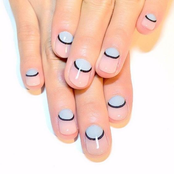Moon nail art. More