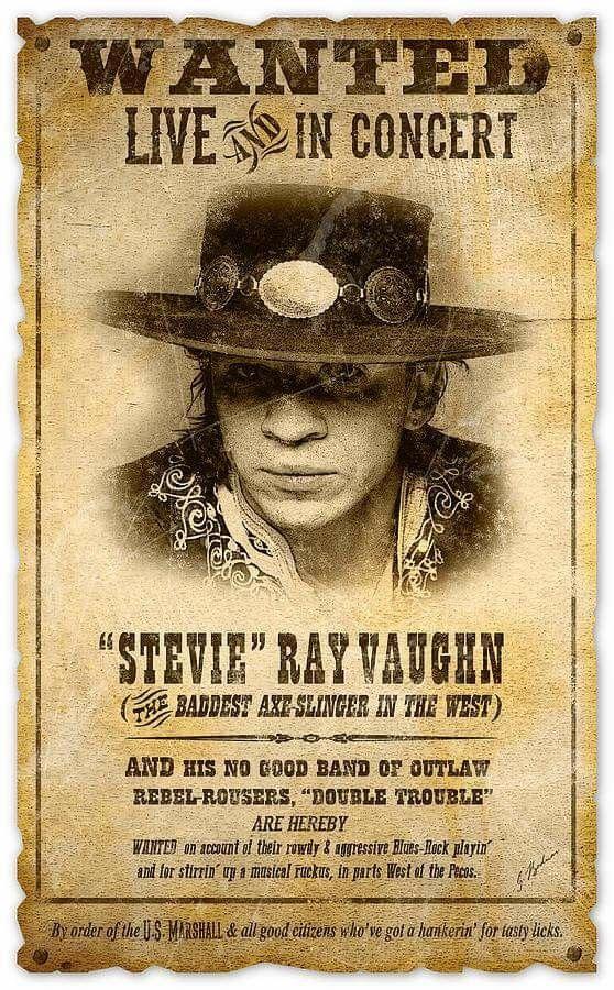 Stevie Ray Vaughan Blues Music Poster Concert Posters Steve