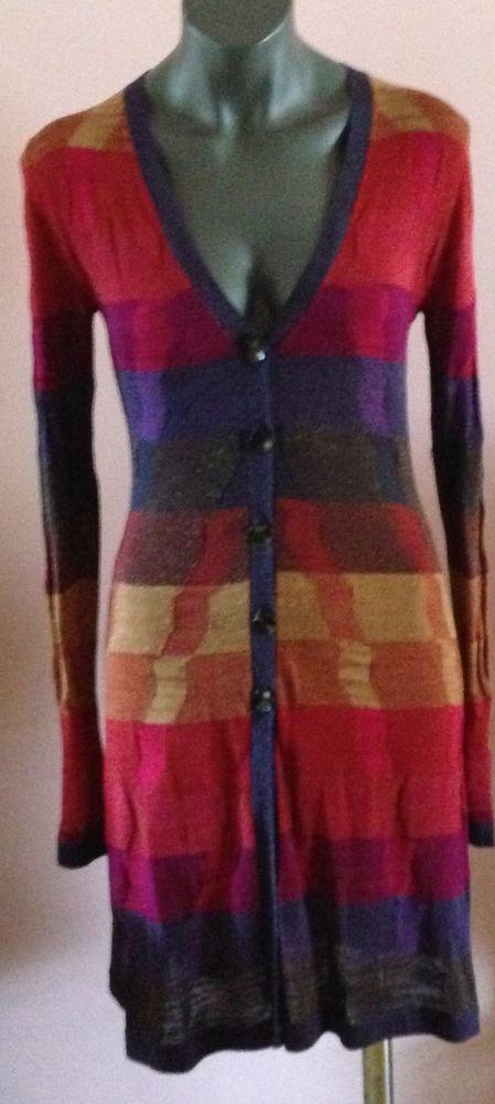 Diane von Furstenberg DVF Cardigan, M, Sweater small to medium, Multicolor #DVF #Cardigan