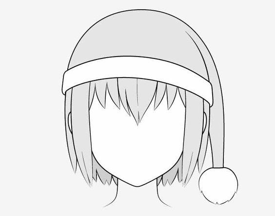 Vẽ mũ giáng sinh anime
