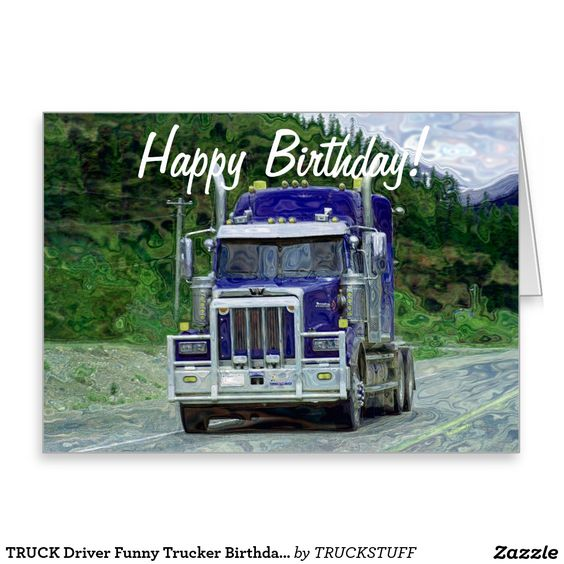 Truck Drivers Birthday Cake