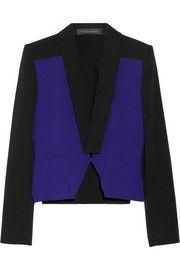 Roland MouretManado two-tone crepe jacket