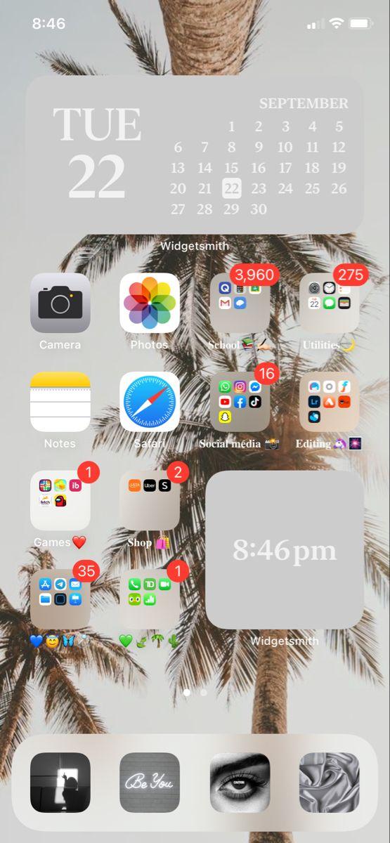 Ios 14 Home Screen Ideas Iphone Wallpaper App Homescreen Iphone Phone Apps Iphone