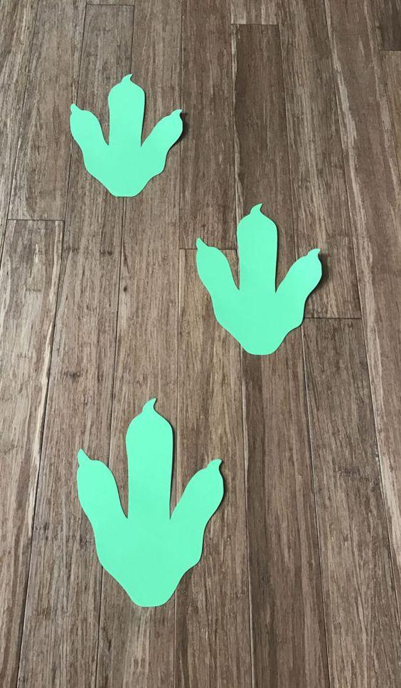 Huella de dinosaurio dinosaurio pies impresión decoraciones