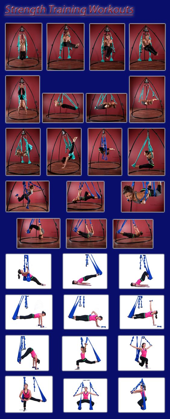 Strength Training Poses - omni-gym A yoga swing! I need one of these. This belongs in health and beauty AND Products I love (want)