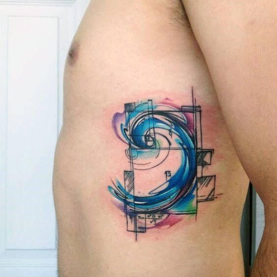 Side Tattoos For Men Spiral Tattoos Fibonacci Tattoo Geometric