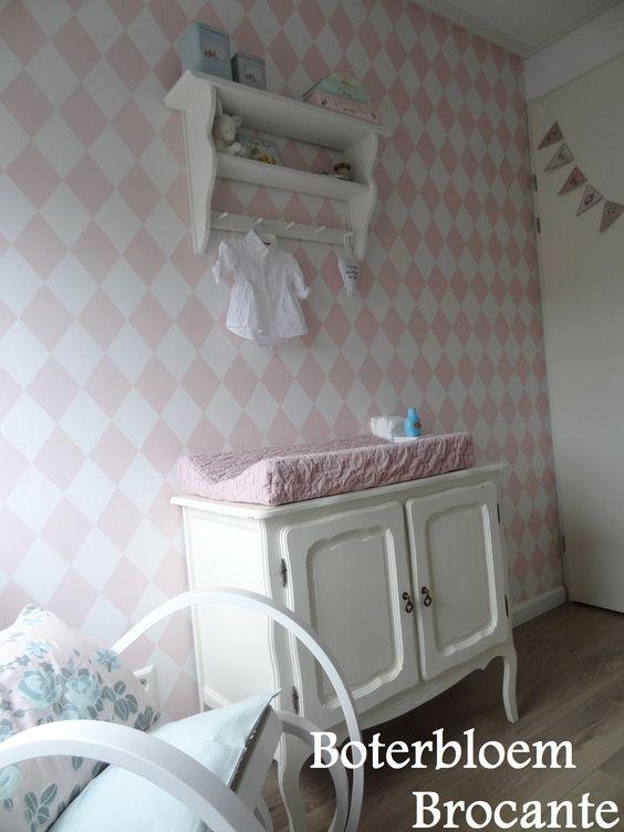 Mooi behang babykamer  Babykamer  Pinterest