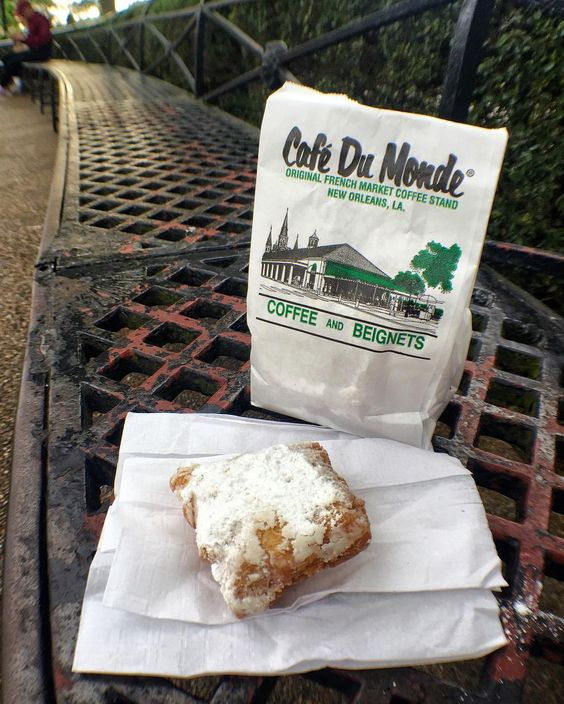 12/48: Beignets for breakfast courtesy of #cafedumonde in the #frenchquarter  #raceto48 #neworleans #louisiana #roadtrip by missmanagedmischief