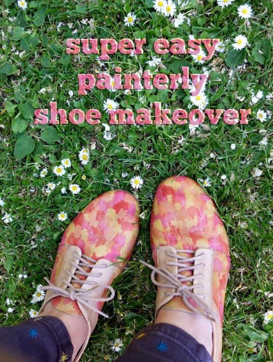 DIY Shoes Makeover : DIY Painterly Shoe Makeover
