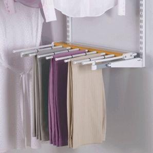 Wood/Titanium Sliding Pants Garment Rack