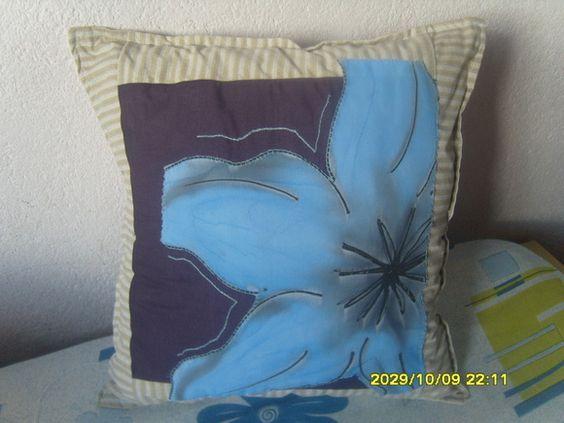 almofadas pintadas,com pet aplique etc R$ 30,00