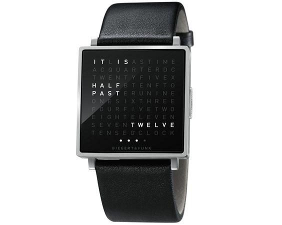 biegert & funk: qlocktwo W wristwatch