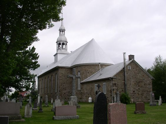 The church/cemetery in Ste. Marthe, QC where my ancestors are buried.
