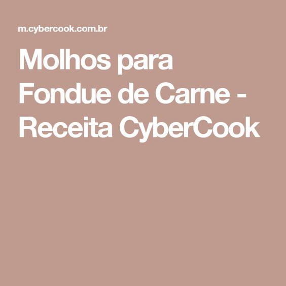 Molhos para Fondue de Carne - Receita CyberCook